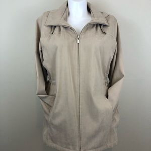 London Fog light jacket w/ detachable hood, sz 1X